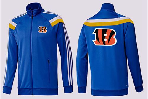 NFL Cincinnati Bengals Team Logo Jacket Blue_2