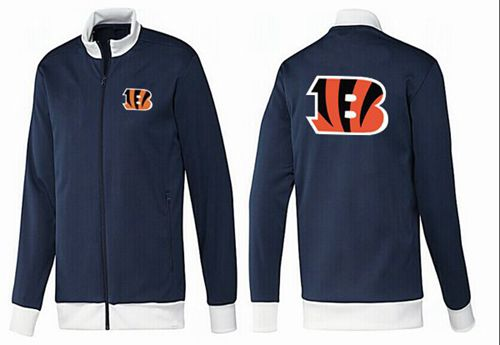 NFL Cincinnati Bengals Team Logo Jacket Dark Blue_1