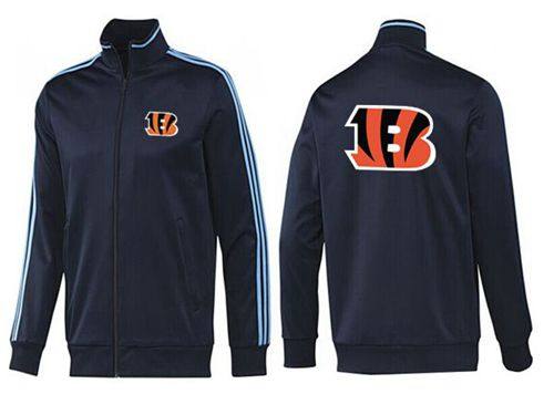 NFL Cincinnati Bengals Team Logo Jacket Dark Blue_2