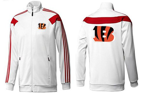 NFL Cincinnati Bengals Team Logo Jacket White_1