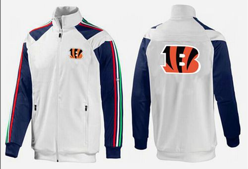 NFL Cincinnati Bengals Team Logo Jacket White_2