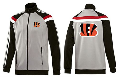 NFL Cincinnati Bengals Team Logo Jacket Grey