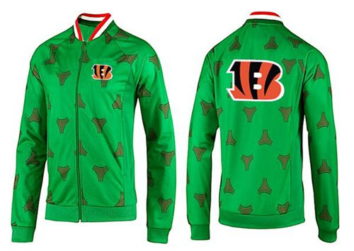 NFL Cincinnati Bengals Team Logo Jacket Green