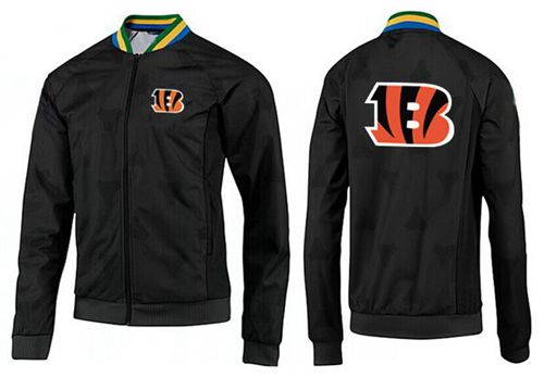 NFL Cincinnati Bengals Team Logo Jacket Black_4