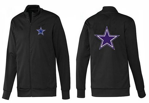 NFL Dallas Cowboys Team Logo Jacket Black_1