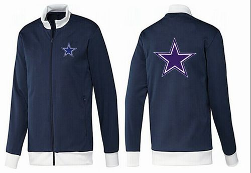 NFL Dallas Cowboys Team Logo Jacket Dark Blue_1