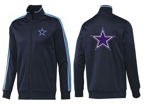 NFL Dallas Cowboys Team Logo Jacket Dark Blue_2