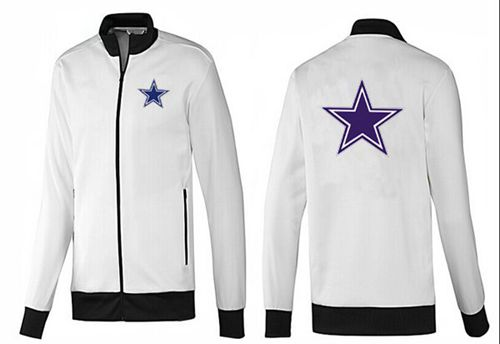 NFL Dallas Cowboys Team Logo Jacket White_1
