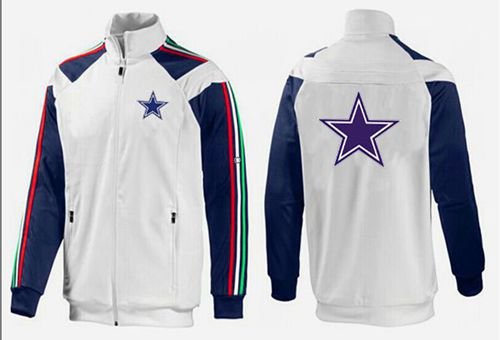 NFL Dallas Cowboys Team Logo Jacket White_2