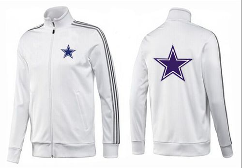 NFL Dallas Cowboys Team Logo Jacket White_3