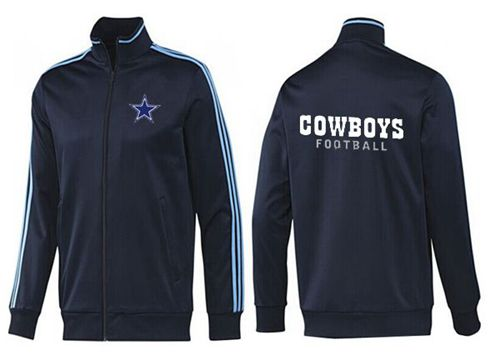 NFL Dallas Cowboys Authentic Jacket Dark Blue_1