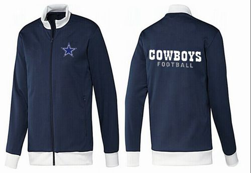NFL Dallas Cowboys Authentic Jacket Dark Blue_2