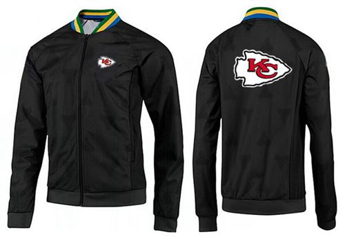 NFL Kansas City Chiefs Team Logo Jacket Black_4