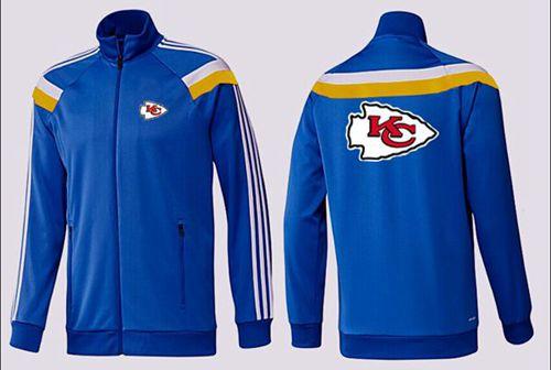 NFL Kansas City Chiefs Team Logo Jacket Blue_1
