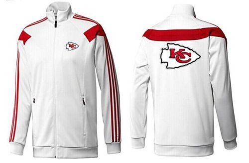 NFL Kansas City Chiefs Team Logo Jacket White_1