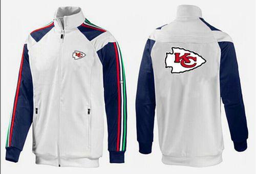 NFL Kansas City Chiefs Team Logo Jacket White_2