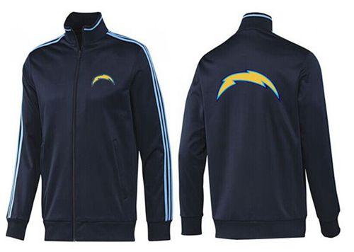 NFL Los Angeles Chargers Team Logo Jacket Dark Blue_2