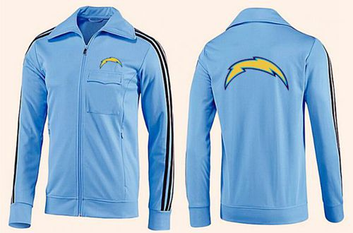 NFL Los Angeles Chargers Team Logo Jacket Light Blue_2