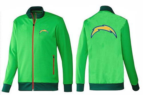 NFL Los Angeles Chargers Team Logo Jacket Green
