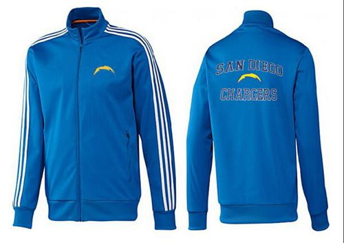 NFL Los Angeles Chargers Heart Jacket Blue_2