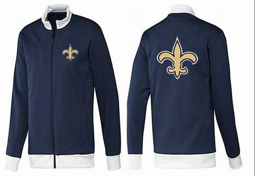 NFL New Orleans Saints Team Logo Jacket Dark Blue_1