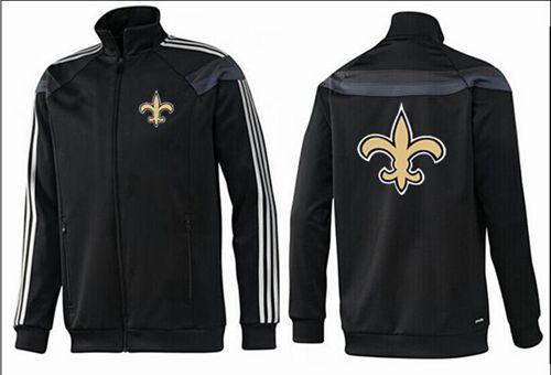 NFL New Orleans Saints Team Logo Jacket Black_3