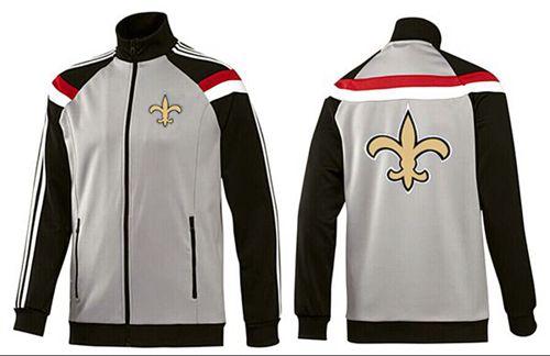 NFL New Orleans Saints Team Logo Jacket Grey
