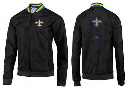 NFL New Orleans Saints Victory Jacket Black_2