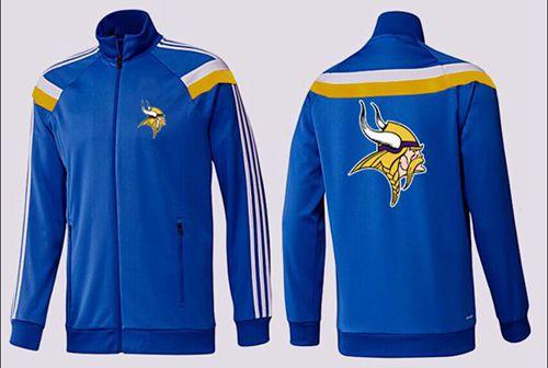NFL Minnesota Vikings Team Logo Jacket Blue_3
