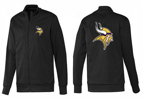 NFL Minnesota Vikings Team Logo Jacket Black_1