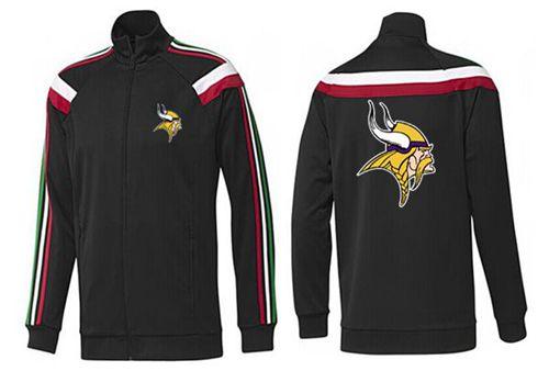 NFL Minnesota Vikings Team Logo Jacket Black_2