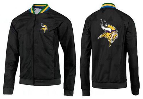 NFL Minnesota Vikings Team Logo Jacket Black_3