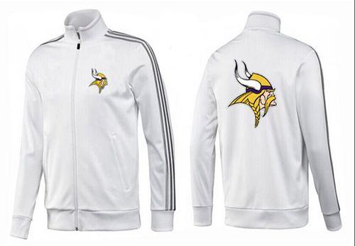 NFL Minnesota Vikings Team Logo Jacket White_1