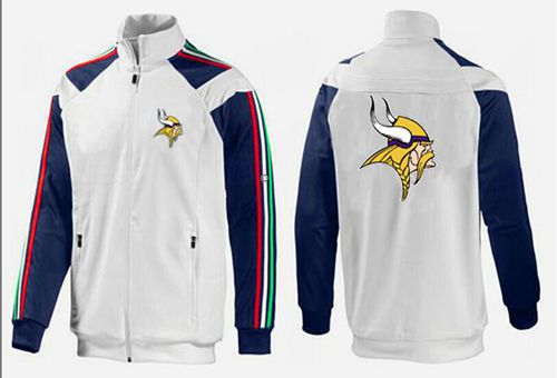 NFL Minnesota Vikings Team Logo Jacket White_2