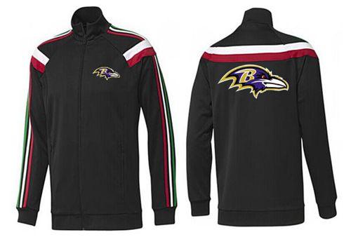 NFL Baltimore Ravens Team Logo Jacket Black_2