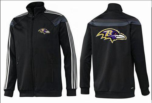 NFL Baltimore Ravens Team Logo Jacket Black_3