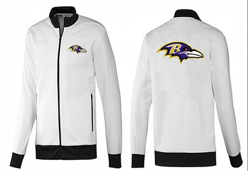 NFL Baltimore Ravens Team Logo Jacket White_1