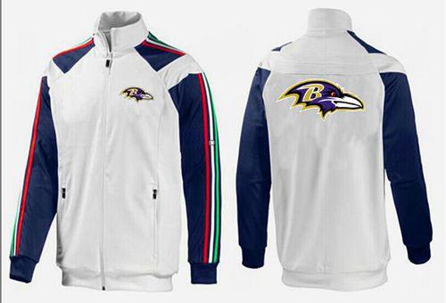 NFL Baltimore Ravens Team Logo Jacket White_2
