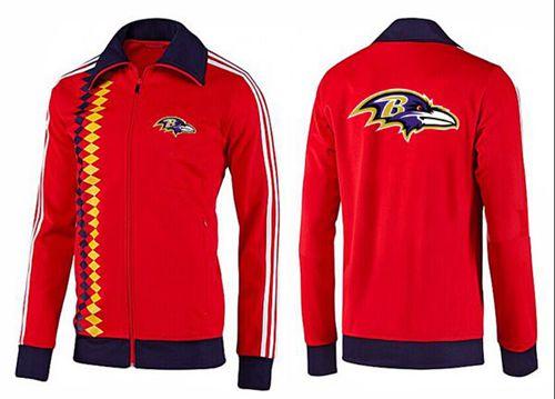 NFL Baltimore Ravens Team Logo Jacket Orange