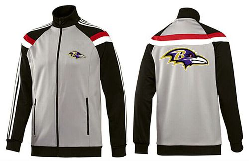 NFL Baltimore Ravens Team Logo Jacket Grey