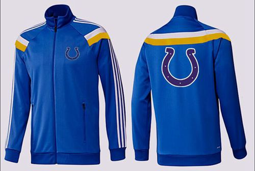 NFL Indianapolis Colts Team Logo Jacket Blue_5