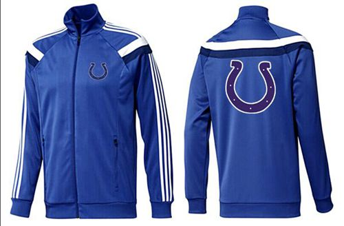 NFL Indianapolis Colts Team Logo Jacket Blue_6