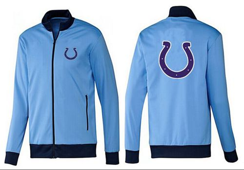 NFL Indianapolis Colts Team Logo Jacket Light Blue_1