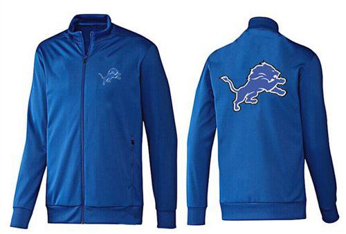 NFL Detroit Lions Team Logo Jacket Blue_1