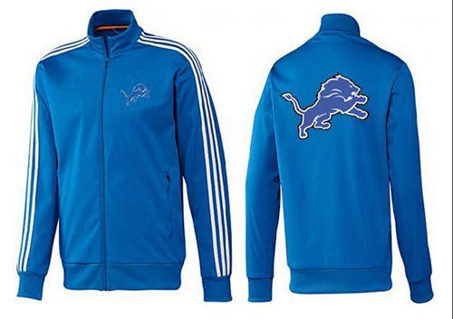 NFL Detroit Lions Team Logo Jacket Blue_2