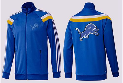 NFL Detroit Lions Team Logo Jacket Blue_3
