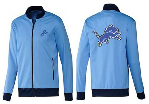 NFL Detroit Lions Team Logo Jacket Light Blue_1