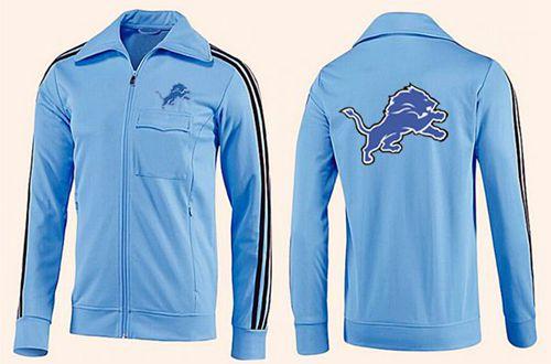 NFL Detroit Lions Team Logo Jacket Light Blue_2