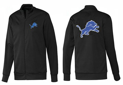 NFL Detroit Lions Team Logo Jacket Black_1