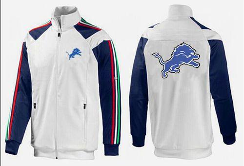 NFL Detroit Lions Team Logo Jacket White